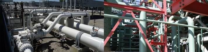Piping at compressor station - Vibration Review and Design Support Services, Vibration Audit, FEED study